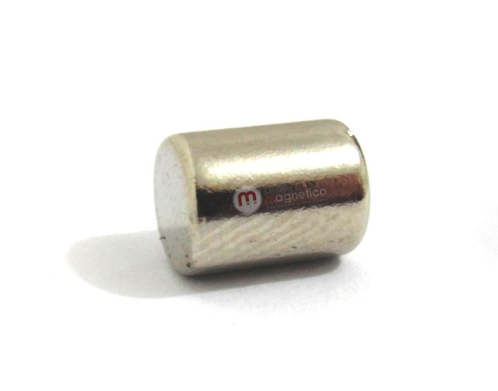 Imã de Neodímio Cilindro N35 6x8 mm  - Polo Magnético