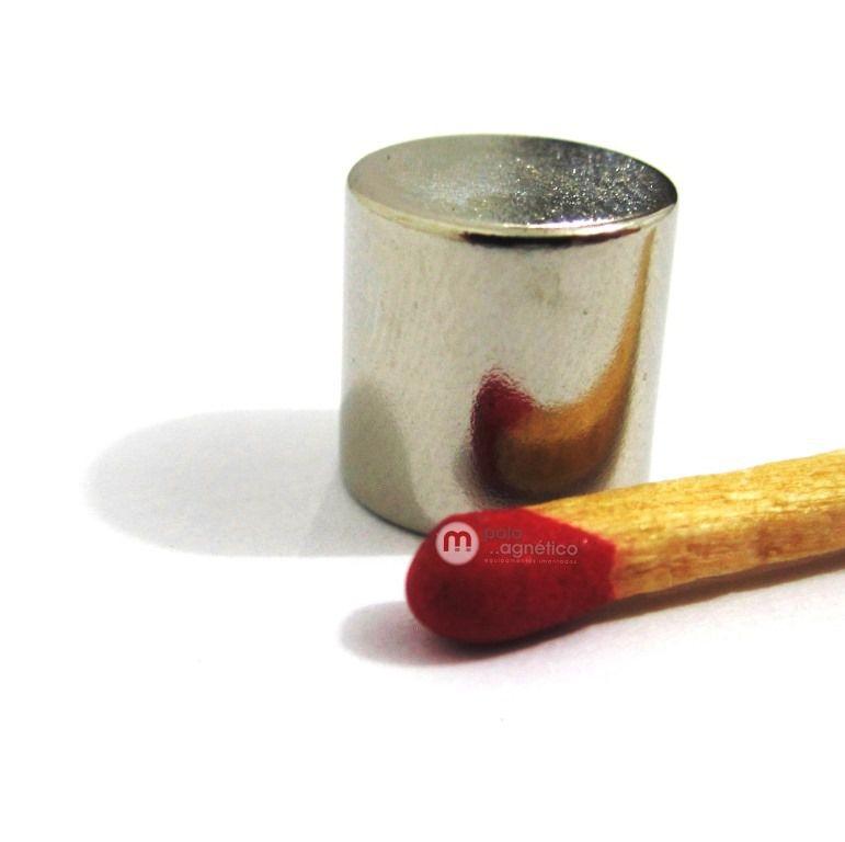 Imã de Neodímio Cilindro N42 10x10 mm  - Polo Magnético