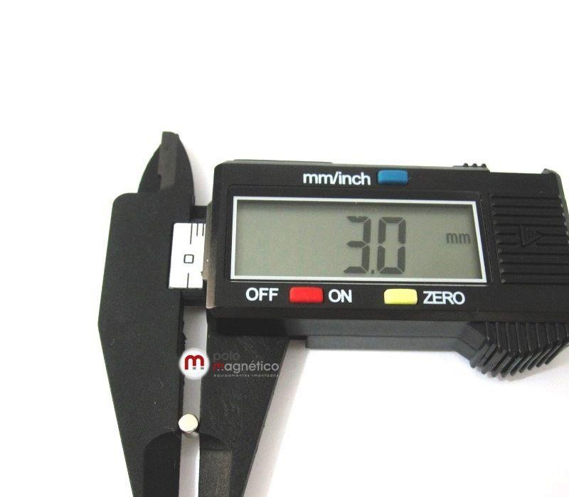Imã de Neodímio Cilndro N35 3x5 mm  - Polo Magnético