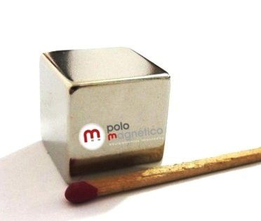 Imã de Neodímio Cubo N42 20x20x20 mm  - Polo Magnético