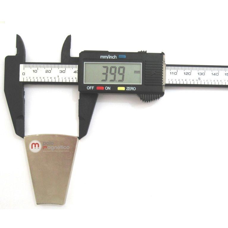 Imã de Neodímio Cunha N50 50,8x39,9x19,8x6,35 mm  - Polo Magnético