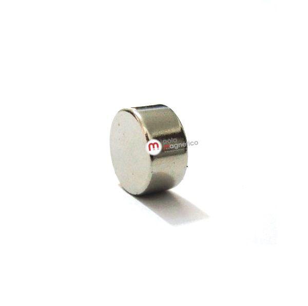 Imã de Neodímio Disco N35 10x5 mm  - Polo Magnético
