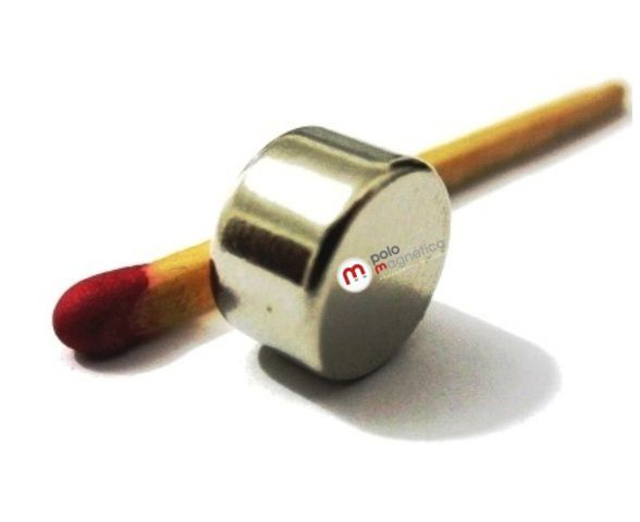 Imã de Neodímio Disco N35 10x6 mm  - Polo Magnético