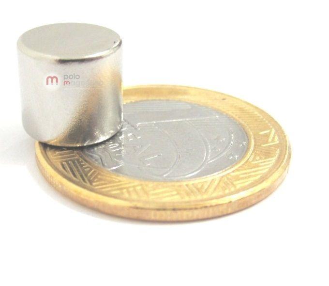 Imã de Neodímio Disco N35 11x10 mm
