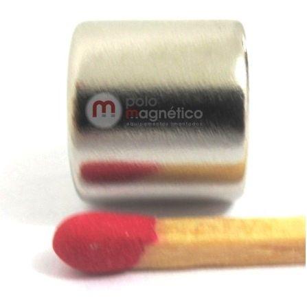 Imã de Neodímio Disco N35 11x10 mm  - Polo Magnético