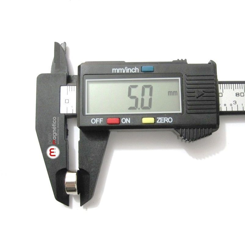 Imã de Neodímio Disco N35 11x5 mm  - Polo Magnético