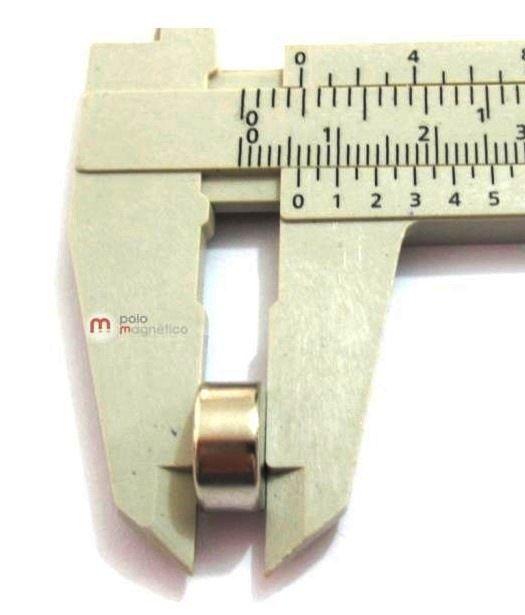 Imã de Neodímio Disco N35 12x6 mm  - Polo Magnético
