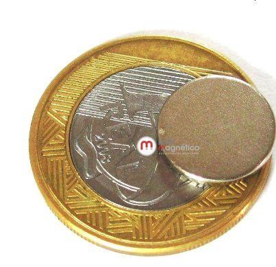 Imã de Neodímio Disco N35 13x1,5 mm