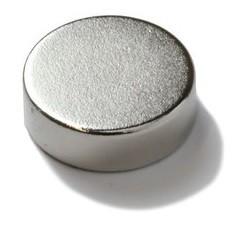 Imã de Neodímio Disco N35 13x5 mm 100 peças  - Polo Magnético
