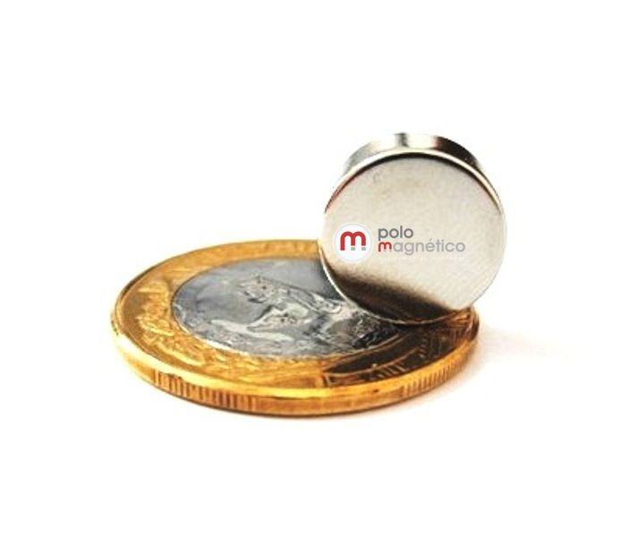 Imã de Neodímio Disco N35 13x5 mm