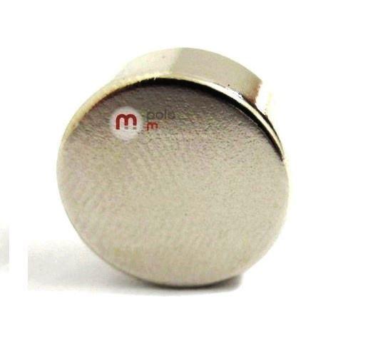 Imã de Neodímio Disco N35 13x6 mm  - Polo Magnético
