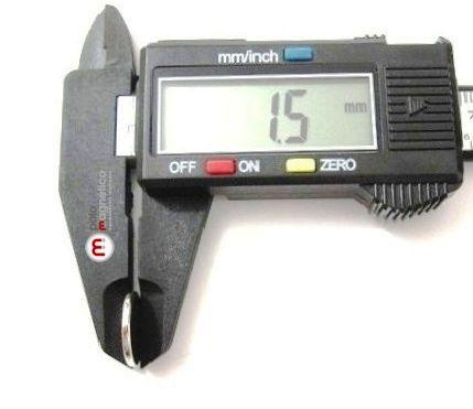 Imã de Neodímio Disco N35 14x1,5 mm 200 peças  - Polo Magnético
