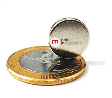 Imã de Neodímio Disco N35 14x3 mm  - Polo Magnético