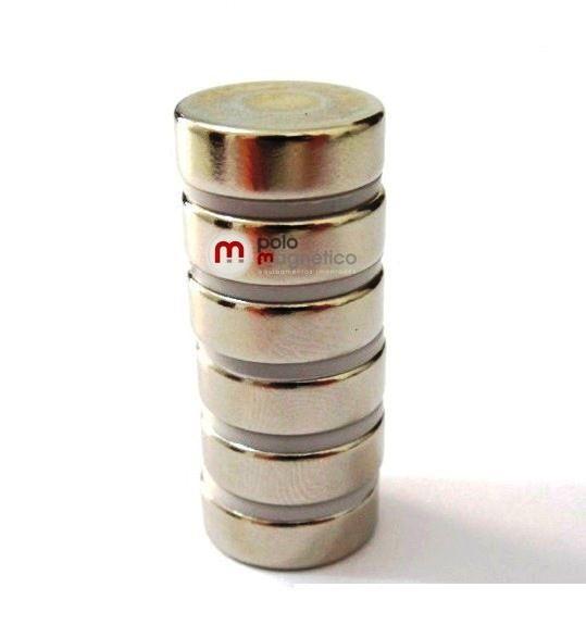 Imã de Neodímio Disco N35 15x5 mm  - Polo Magnético