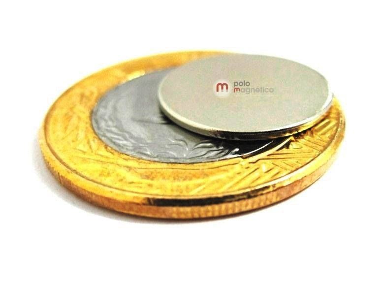 Imã de Neodímio Disco N35 16x1 mm