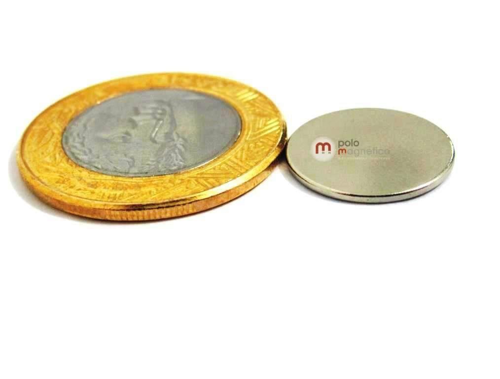 Imã de Neodímio Disco N35 16x1 mm  - Polo Magnético