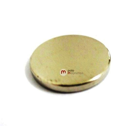 Imã de Neodímio Disco N35 16x2 mm  - Polo Magnético