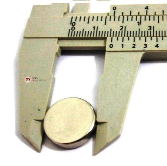 Imã de Neodímio Disco N35 16x4 mm  - Polo Magnético