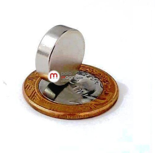 Imã de Neodímio Disco N35 16x5 mm  - Polo Magnético