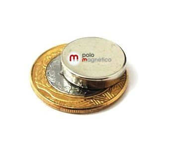 Imã de Neodímio Disco N35 18x4 mm  - Polo Magnético
