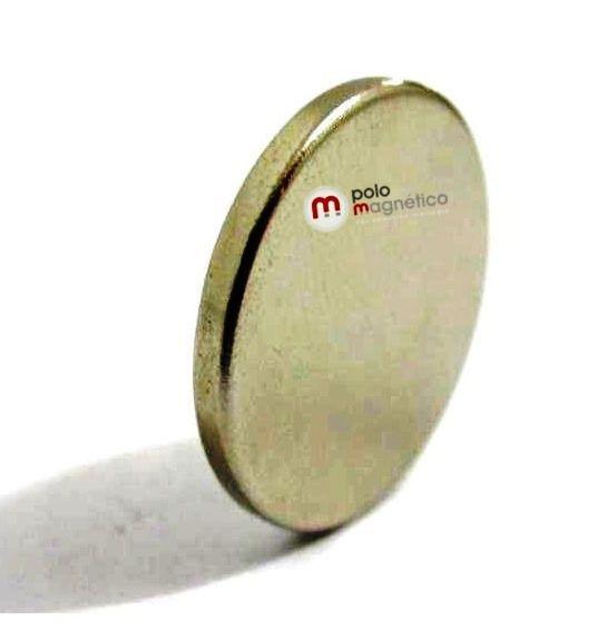 Imã de Neodímio Disco N35 20x2 mm  - Polo Magnético