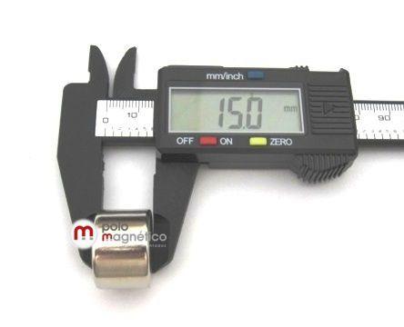 Imã de Neodímio Disco N35 22x15 mm  - Polo Magnético