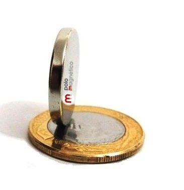 Imã de Neodímio Disco N35 22x3 mm