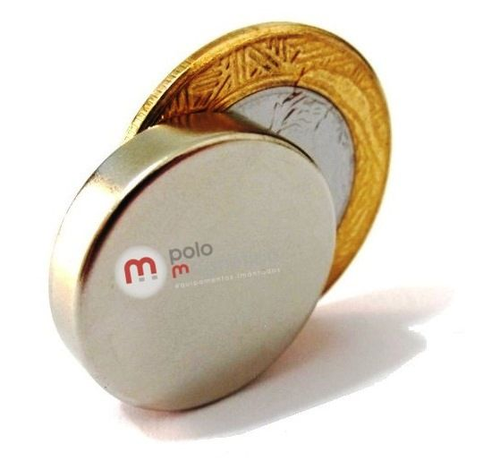 Imã de Neodímio Disco N35 22x5 mm