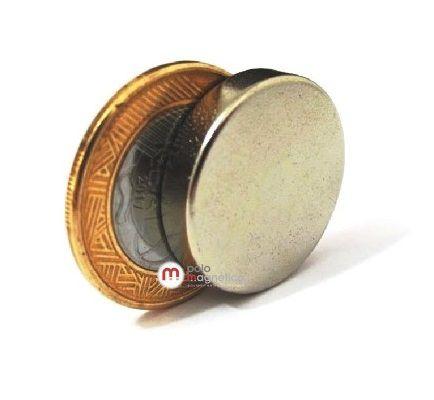 Imã de Neodímio Disco N35 25x5 mm