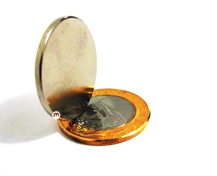 Imã de Neodímio Disco N35 28x2 mm  - Polo Magnético