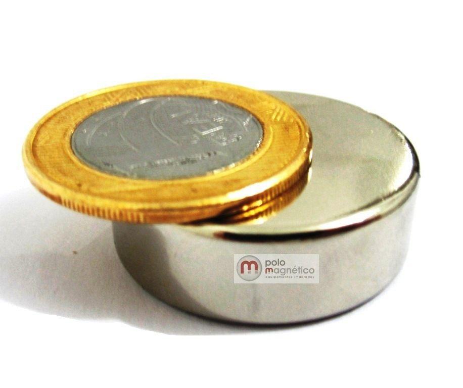 Imã de Neodímio Disco N35 30x10 mm