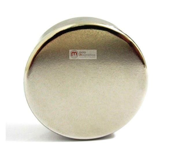 Imã de Neodímio Disco N35 30x10 mm  - Polo Magnético