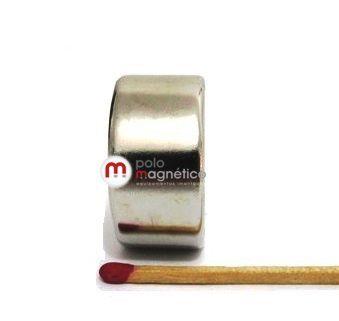 Imã de Neodímio Disco N35 30x15 mm  - Polo Magnético