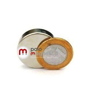 Imã de Neodímio Disco N35 30x8 mm  - Polo Magnético