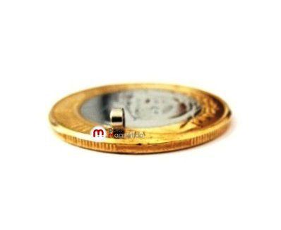 Imã de Neodímio Disco N35 3x1,5 mm  - Polo Magnético