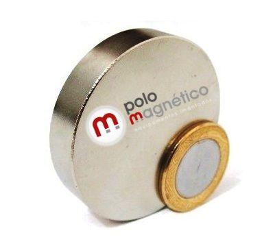 Imã de Neodímio Disco N35 48x10 mm