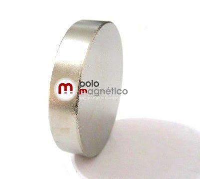 Imã de Neodímio Disco N35 48x10 mm  - Polo Magnético