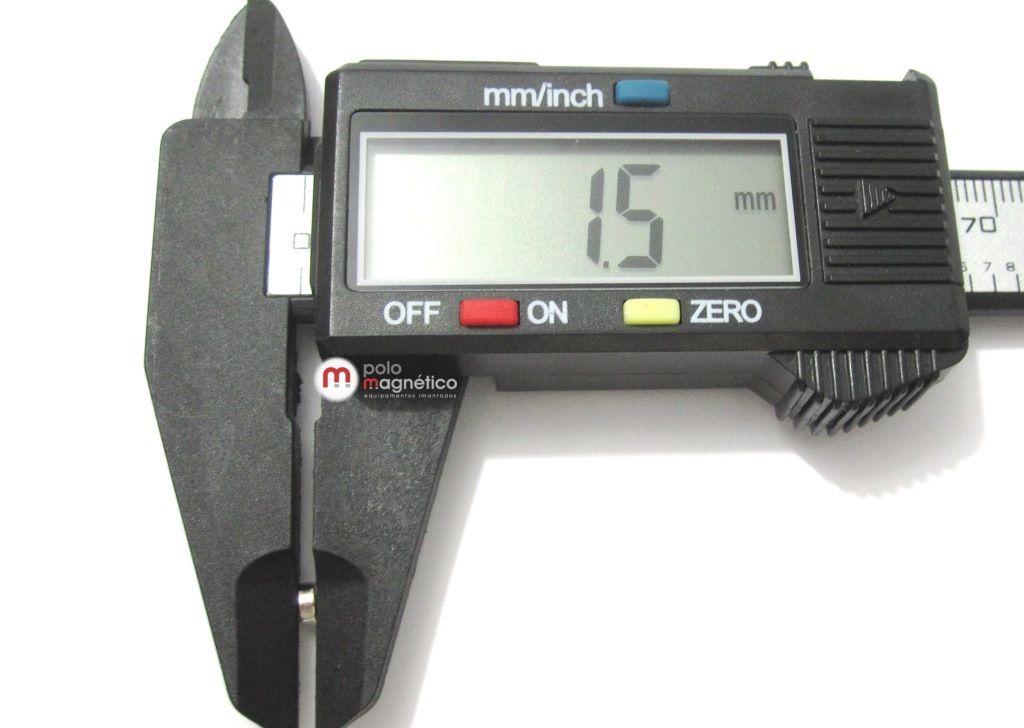 Imã de Neodímio Disco N35 4x1,5 mm  - Polo Magnético