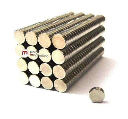 Imã de Neodímio Disco N35 5x1,5 mm  - Polo Magnético