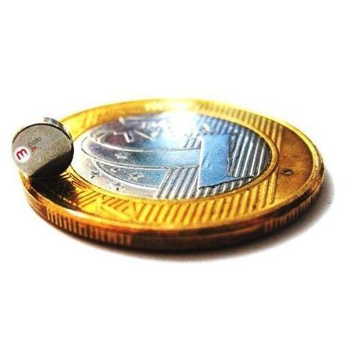 Imã de Neodímio Disco N35 5x1,5 mm atacado 1200 peças  - Polo Magnético