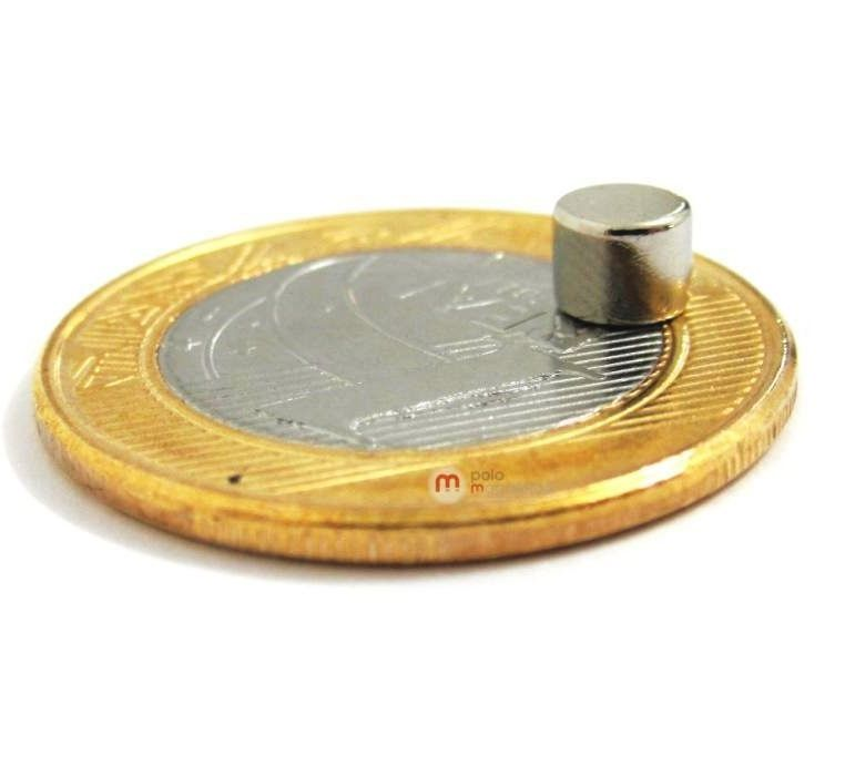 Imã de Neodímio Disco N35 5x4 mm