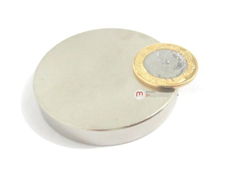 Imã de Neodímio Disco N35 60x10 mm