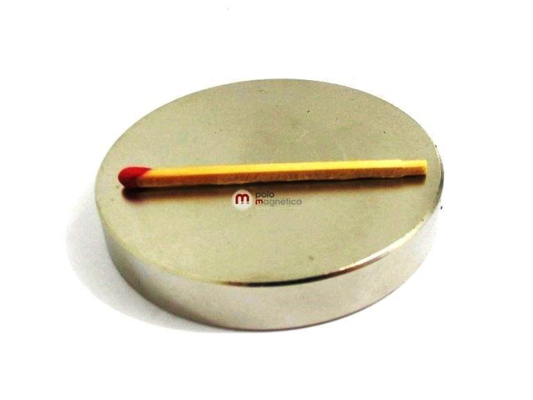 Imã de Neodímio Disco N35 60x10 mm  - Polo Magnético