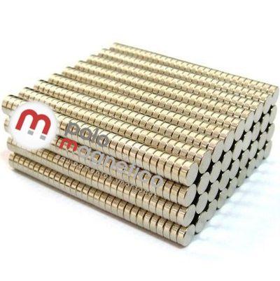 Imã de Neodímio Disco N35 6x2 mm atacado 1000 peças
