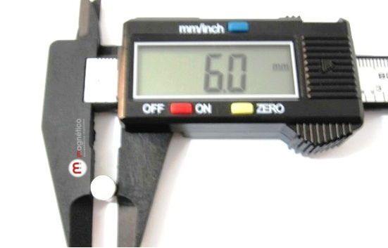 Imã de Neodímio Disco N35 6x2 mm atacado 1000 peças  - Polo Magnético