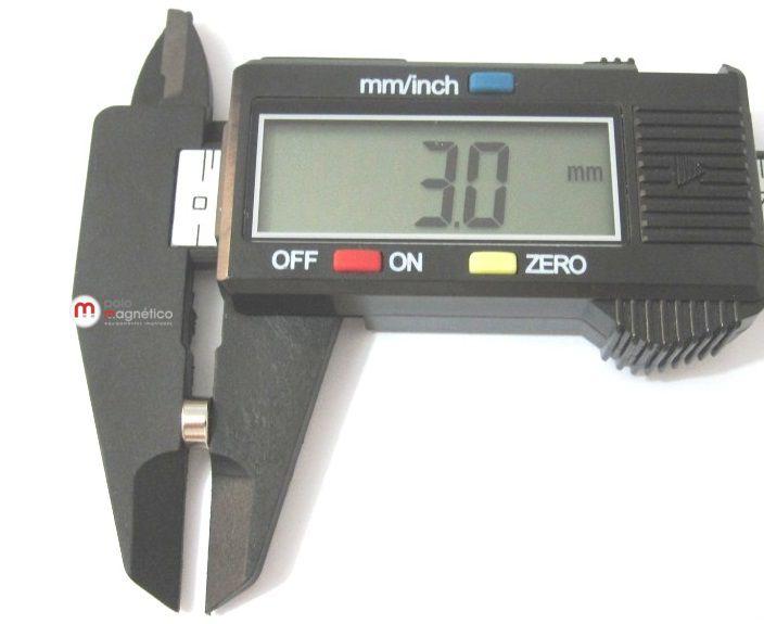 Imã de Neodímio Disco N35 6x3 mm  - Polo Magnético