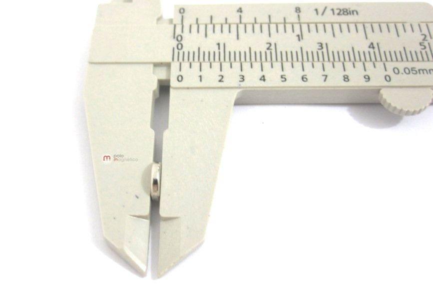 Imã de Neodímio Disco N35 7x1,5 mm  - Polo Magnético