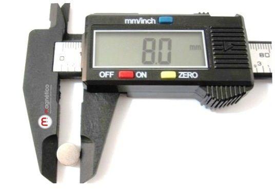 Imã de Neodímio Disco N35 8x1 mm  - Polo Magnético