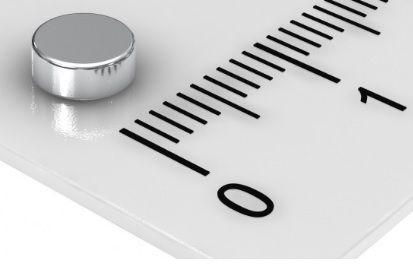 Imã de Neodímio Disco N35SH 5x1,5 mm 120°C  - Polo Magnético