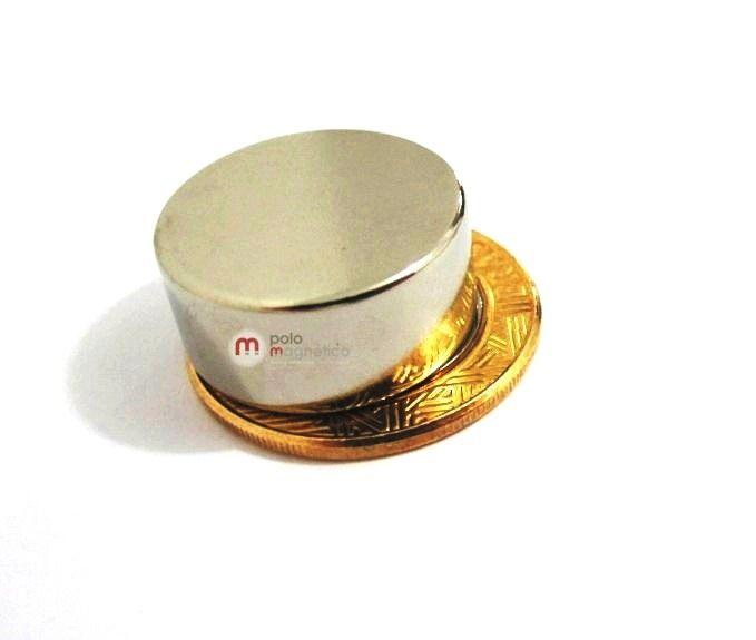 Imã de Neodímio Disco N42 22x10 mm